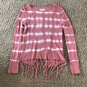 Knox Rose tasseled sweater with open back Small